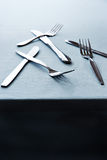 Forks and knives Stock Image