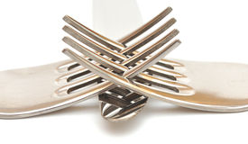 Forks macro Stock Photo