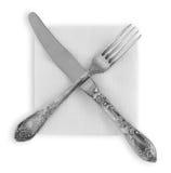 3 forks nóż Zdjęcia Royalty Free