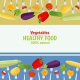 forks nya grönsaker Arkivbilder