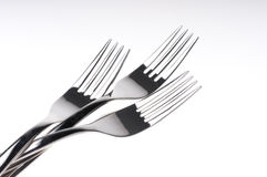 Forks over white. Forks isolated over white background Stock Photo