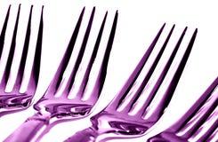 forks purplen Royaltyfri Fotografi
