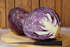 Forks red cabbage. Stock Photo