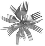 Forks Sphere Royalty Free Stock Images