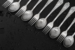 Forks and spoon Stock Images