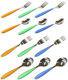 Forks and spoons Royalty Free Stock Photography