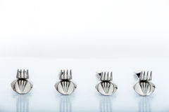 Forks and spoons Royalty Free Stock Images