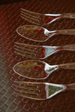 Forks and spoons Royalty Free Stock Image