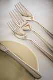 Forks on a table Stock Photo