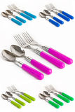 Forks and teaspoons Royalty Free Stock Photo
