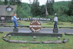 Forks timber museum Stock Photo