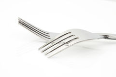 forks on white background Stock Photo