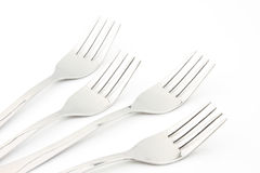 Forks on white background Stock Image
