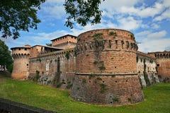 Forlì, Emilia-Romagna, Italien: alte Festung von Caterina Sforz Lizenzfreie Stockfotos