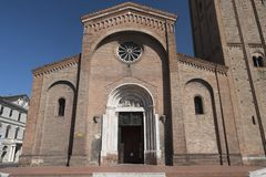 Forli Italy: church of San Mercuriale Royalty Free Stock Photography