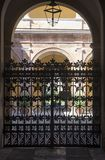 Forli Italy: courtyard of historic palace Royalty Free Stock Photo