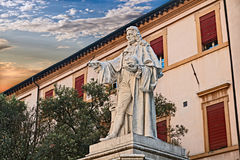 Forli, Emilia Romagna, Italy: statue of the anatomist G. B. Morg Royalty Free Stock Images