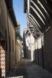 Forli Italy: via Gaddi, old alley Stock Images