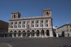 Forli Italy: Aurelio Saffi square Stock Photos