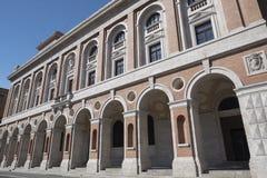 Forli Italy: Aurelio Saffi square Stock Images