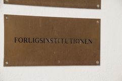 Forligsinstitutionen & Arbejdsretten_conciliation office. Copenhagen/Denmark 27 April 2018_ Conciliation office and labour courts building  danish all labour Stock Images
