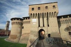 Forlimpopoli huvudingång av slottet Arkivfoto