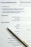 Form. Application form royalty free stock image