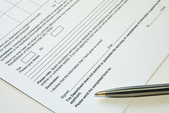 Form. Application form royalty free stock photos