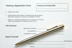 Form. Application form stock photo