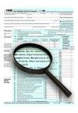 2013 Form 1040 Lizenzfreies Stockbild
