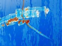 Form auf Blau Lizenzfreies Stockbild