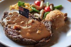 Form Australien för import för biff för frukoststorgubbenötkött arkivfoto