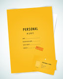 Form blank illustration. Folder, paper, isolated Royalty Free Stock Photos