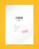 Form blank illustration. Folder, paper, isolated Stock Photography