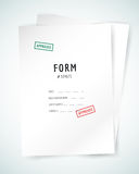 Form blank illustration. Folder, paper, isolated Royalty Free Stock Photo