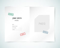 Form blank illustration. Folder, paper, isolated. And text. Vector stock element for design Royalty Free Stock Image
