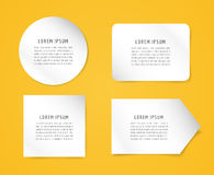 Form blank template. Business card, paper and Royalty Free Stock Photography