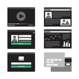 Form del modello Web Fotografie Stock
