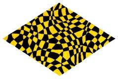 Form des gelben und schwarzen Diamanten Lizenzfreie Stockfotos
