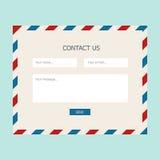 Form di risposte di web Fotografie Stock Libere da Diritti