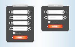 Form di web di registrazione Immagini Stock Libere da Diritti