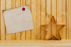 Form dough into a Christmas star Royalty Free Stock Image