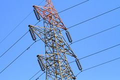 Electric Power Transmission Lines royalty free stock photography