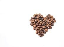 form för bönakaffehjärta arkivbilder