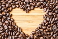 Form för hjärta för kaffeböna Royaltyfria Foton