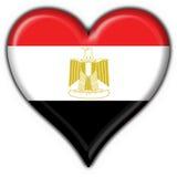 form för hjärta för knappegypt flagga vektor illustrationer