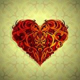 Form för hjärta för St-valentintema Royaltyfri Fotografi