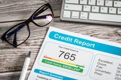 Form för risk för applikation för lån för bankrörelsen för rapportkrediteringsställning Royaltyfria Bilder