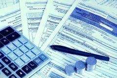 Form för skatt PIT-36 2 Arkivfoto
