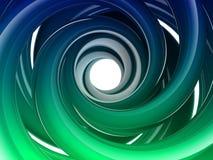 form för spiral 3D Fotografering för Bildbyråer